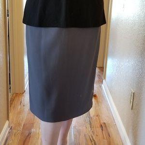 Women's Plus Size Grey Straight Skirt